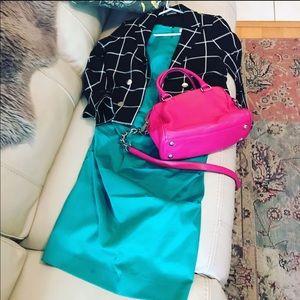 Katherine Kelly emerald green dress